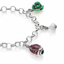 Bracciale Light con Charms Veneto in Argento 925 e Smalti