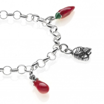 Rolo Light Bracelet with Campania Charms in Sterling Silver and Enamel