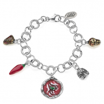 Rolo Luxury Bracelet with Campania Charms in Sterling Silver and Enamel