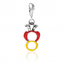 The Ace of Coins Charm in Sterling Silver & Enamel