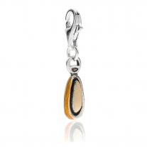 Pine Nut Charm in Sterling Silver & Enamel