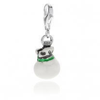 Burrata Cheese Charm in Sterling Silver and Enamel