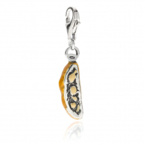 Cantuccio Biscotti Charm in Sterling Silver and Enamel