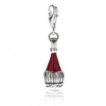 Chianti Wine Charm in Silver Sterling e Smalti
