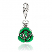 Green Salad Charm in Sterling Silver and Enamel