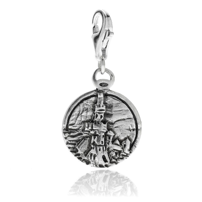 Lighthouse of Genoa Charm in Sterling Silver