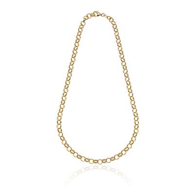 Rolò Light Necklace in Golden Sterling Silver 45 cm