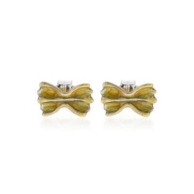 Farfalla Pasta Earrings in Sterling Silver and Enamel