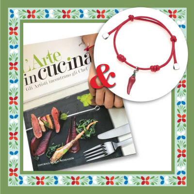 Art in the Kitchen Book & Red Pepper Bracelet