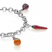 Calabria Premium Bracelet in Sterling Silver & Enamel