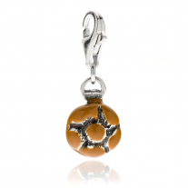 Michetta Charm in Sterling Silver and Enamel