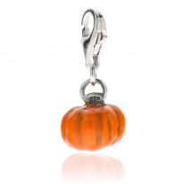Pumpkin Charm in Sterling Silver and Enamel