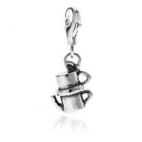 Vintage Moka Charm in Sterling Silver