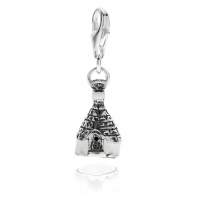 Trullo of Alberobello Charm in Sterling Silver and Enamel