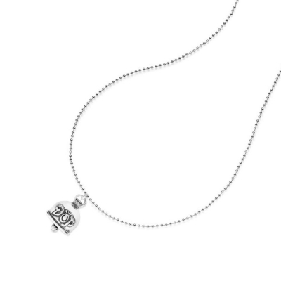 Boule Necklace 100cm with Bellybell Charm in Sterling Silver