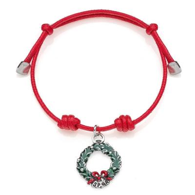 Laurel Wreath Bracelet in Sterling Silver & Enamel