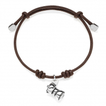 Round Moka Bracelet in Sterling Silver