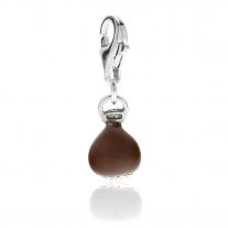 Chestnut Charm in Sterling Silver & Enamel