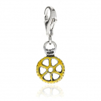 Wheel Pasta Charm in Sterling Silver and Enamel