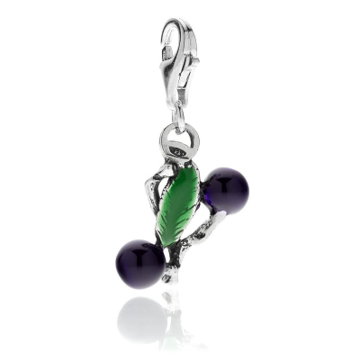 Myrtle Berry Charm in Sterling Silver and Enamel