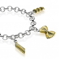 Pasta Premium Rolo Bracelet in Sterling Silver and Enamel