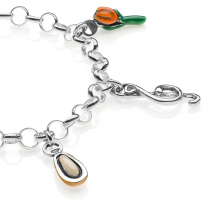 Light Bracelet with Liguria Charms in Sterling Silver and Enamel