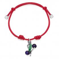 Myrtle Berry Bracelet in Sterling Silver & Enamel