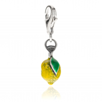 Lemon Charm in Sterling Silver and Enamel