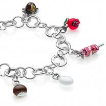 Abruzzo Luxury Rolo Bracelet in Sterling Silver and Enamel