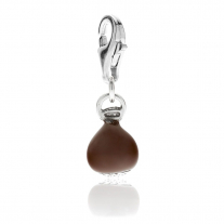 Chestnut Charm in Sterling Silver and Enamel