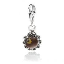 Parrozzo Cake Charm in Sterling Silver and Enamel