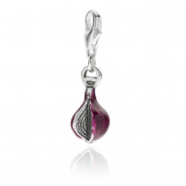 Red Onion of Tropea Charm in Sterling Silver and Enamel