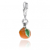 Clementine Charm in Sterling Silver and Enamel