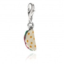 Piadina Romagnola Charm in Sterling Silver and Enamel