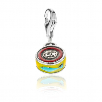 Can of Anchovies Charm in Sterling Silver & Enamel