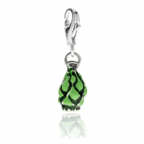 Spiny Artichoke Charm in Sterling Silver and Enamel