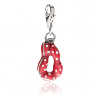 Sausage Charm in Sterling Silver and Enamel