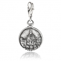 Florence Dome of Brunelleschi Charm in Sterling Silver and Enamel