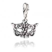 Venetian Carnival Mask in Sterling Silver