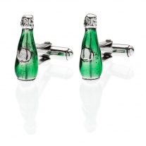 Prosecco Cufflinks in Sterling Silver and Enamel