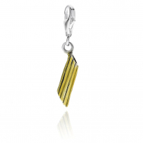 Penne Pasta Charm in Sterling Silver and Enamel