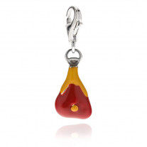 Prosciutto Charm in Sterling Silver and Enamel