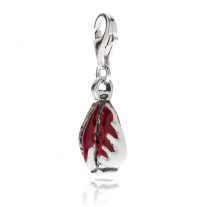Radicchio Charm in Sterling Silver and Enamel