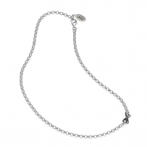 Rolo Light Necklace 45 cm in Sterling Silver