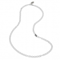Rolo Premium Necklace 80 cm in Sterling Silver