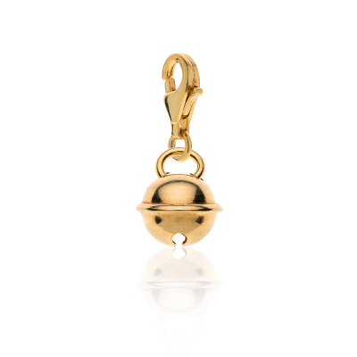 Bell Charm in Golden Sterling Silver