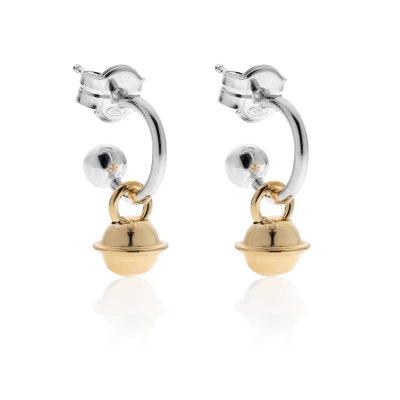 Mini Bell Earrings Earring  in Sterling Silver and Silver
