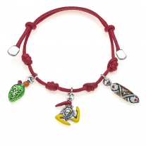 Cannolo, Trinacria & Fico d'India - Jewelry Bracelet