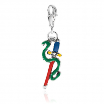 Ace of Swords Charm in Sterling Silver and Enamel