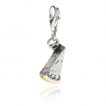 Parmesan Charm in Sterling Silver and Enamel